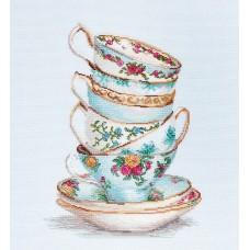 Набор для вышивания Luca-S B2325 Бирюзовые чайные чашки