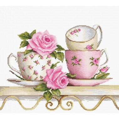 Набор для вышивания Luca-S B2327 Чайные чашки с розами