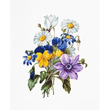 Набор для вышивки крестом Luca-S B2348 Букет цветов