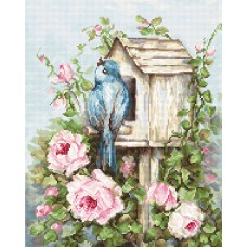 Набор для вышивки крестом Luca-S B2352 Птичий дом и розы