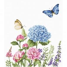 Набор для вышивки Luca-S B2360 Летние цветы и бабочки