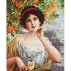 """Набор для вышивки Luca-S B546 """"Красавица под апельсиновым деревом"""""""