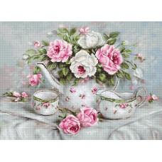 Набор для вышивания Luca-S BA2317 Чайный сервиз и розы