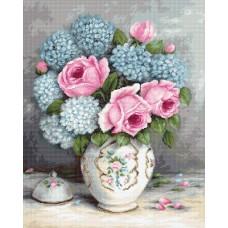 Набор для вышивания Luca-S BA2322 Розы и гортензии