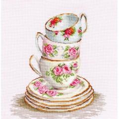 Набор для вышивания Luca-S BA2323 Три чайные чашки