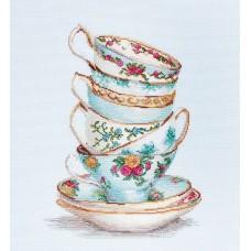 Набор для вышивания Luca-S BA2325 Бирюзовые чайные чашки