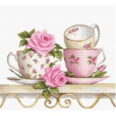 Набор для вышивания Luca-S BA2327 Чайные чашки с розами