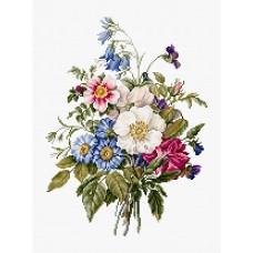 Набор для вышивки крестом Luca-S BU4004 Букет летних цветов