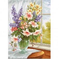 Набор для вышивки Luca-S BU4015 Цветы у окна