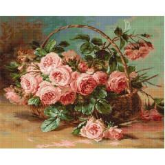 """Набор для вышивания гобелен Luca-S G547 """"Корзина с розами"""""""