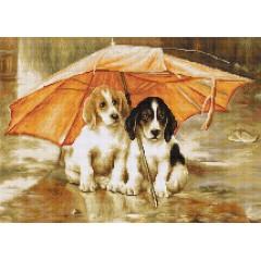 """Набор для вышивания Luca-S G550 """"Двое под зонтом"""""""