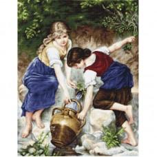 Набор для вышивки Luca-S G564 У фонтана