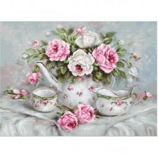 Набор для вышивки Luca-S G565 Чайный сервиз и розы