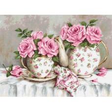 Набор для вышивки Luca-S G568 Утренний чай и розы