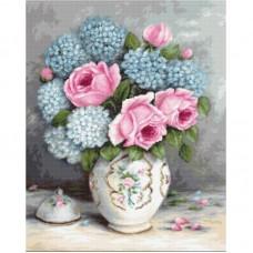 Набор для вышивки Luca-S G569 Розы и гортензии