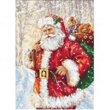 Набор для вышивки Luca-S G575 Дед Мороз