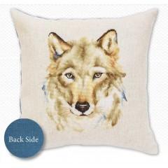 Набор для вышивания подушка Luca-S PB164 Волк