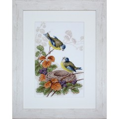 """Набор для вышивания Luca-S B215 """"Птички у гнезда"""""""