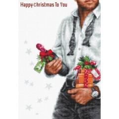 Набор для вышивки крестом Luca-S B2339 Счастливое Рождество