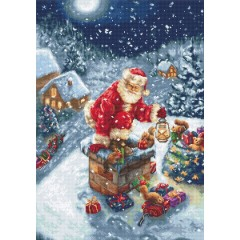 Набор для вышивания Luca-S B577 Дед Мороз