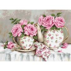 Набор для вышивания Luca-S BA2320 Утренний чай и розы