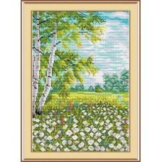 Набор для вышивания М.П.Студия М-019 Хоровод ромашек