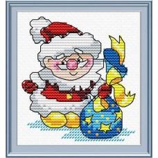 Набор для вышивания М.П.Студия М-027 Новый год спешит на встречу!
