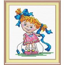 Набор для вышивания М.П.Студия М-038 Озорная девчонка