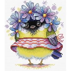 Набор для вышивания М.П.Cтудия М-299 Романтичная синичка