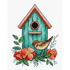 Набор для вышивания М.П.Студия М-366 Воробьиный дом