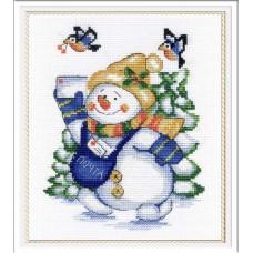 Набор для вышивания М.П.Студия НВ-256 Снеговик