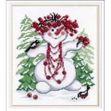 Набор для вышивания М.П.Студия НВ-257 Снежная баба