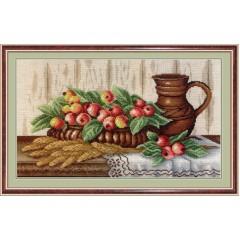 """Набор для вышивания М.П.Cтудия НВ-368 """"Натюрморт с райскими яблоками"""""""