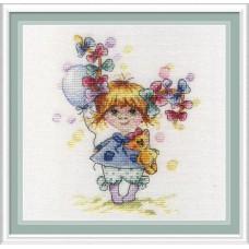 Набор для вышивания М.П.Студия НВ-601 В разноцветных бантах