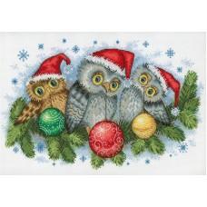 Набор для вышивания М.П.Студия НВ-641 Рождественские помощники