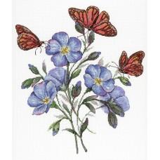 Набор для вышивания М.П.Студия НВ-675 Цветок льна
