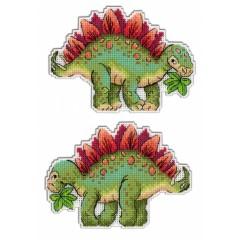Набор для вышивания М.П.Cтудия Р-270 Динозавры Стегозавр