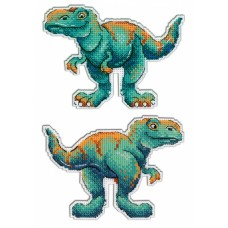 Набор для вышивания М.П.Cтудия Р-271 Динозавры Тираннозавр
