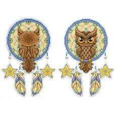 Набор для вышивания М.П.Cтудия Р-273 Ловец снов Сова