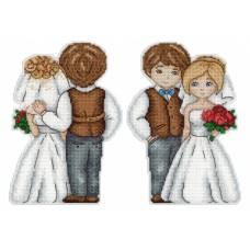 Набор для вышивания М.П.Cтудия Р-276 Жених и невеста