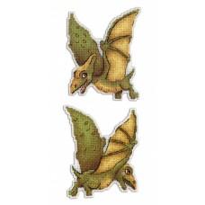 Набор для вышивания М.П.Cтудия Р-300 Динозавры Птеродактиль