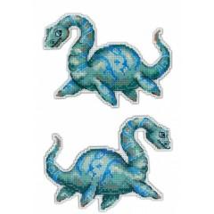 Набор для вышивания М.П.Cтудия Р-301 Динозавры Плезиозавр