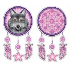 Набор для вышивания М.П.Cтудия Р-303 Ловец снов Волк