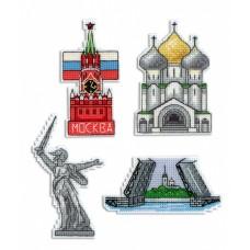 Набор для вышивания М.П.Студия Р-308 Россия. Магниты