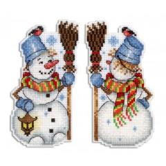Набор для вышивания М.П.Студия Р-318 Снеговик
