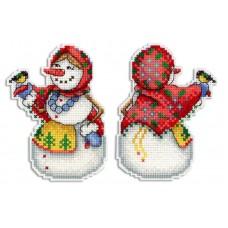 Набор для вышивания М.П.Студия Р-319 Снеговушка
