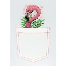 Набор для вышивания М.П.Cтудия В-248 Розовый фламинго