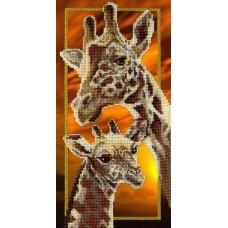 Набор для вышивания бисером  М.П.Cтудия БГ-177 Жирафы