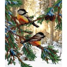 Набор для вышивания бисером  М.П.Cтудия БГ-233 Птички в лесу