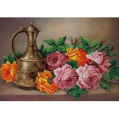 Набор для вышивания бисером  М.П.Cтудия БГ-282 Очарование цветов